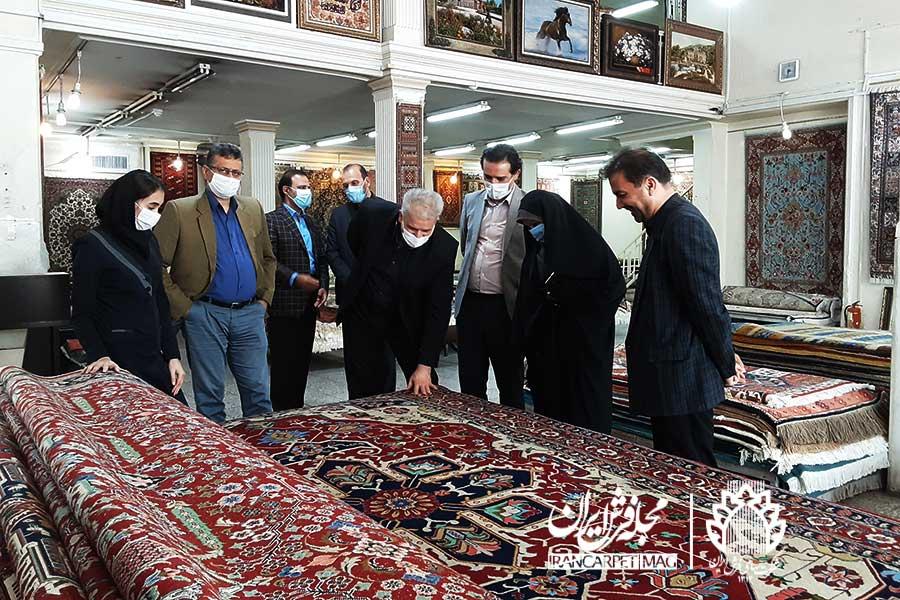 مهدی اصفهانی در شرکت سهامی فرش ایران