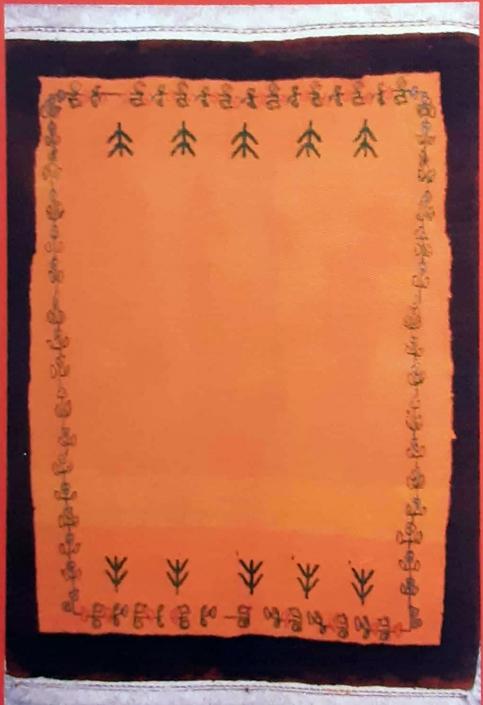 گبه بافته شده از نقاشی حمیده ریاحی 8 ساله