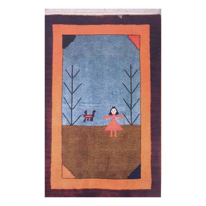 گبه بافته شده از نقاشی ریحانه طاهری 9 ساله