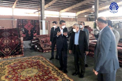 بازدید مدیر عامل موسسه اعتباری ملل ازکارخانجات کرج،شرکت سهامی فرش ایران